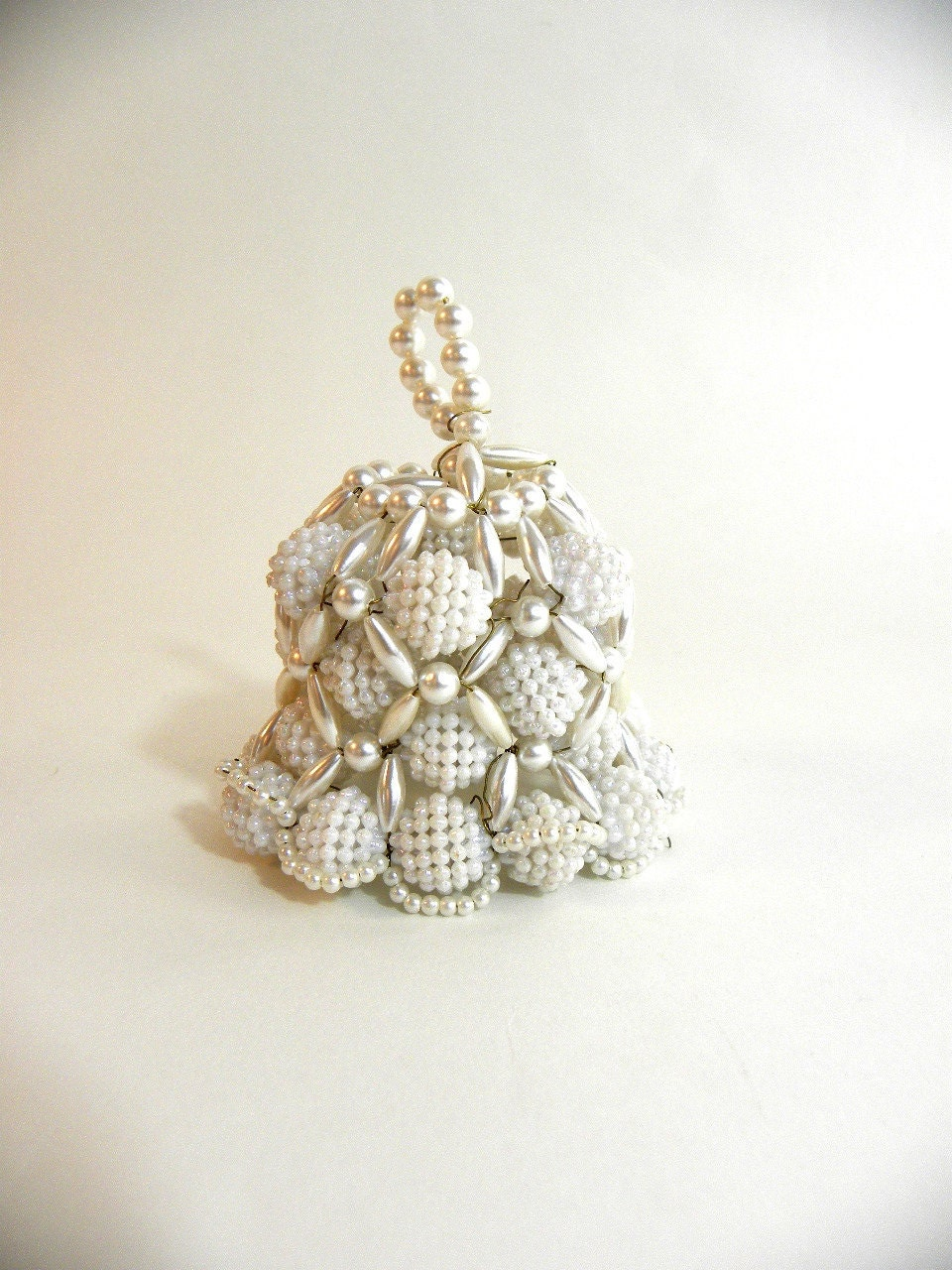 vintage beaded bell tree ornament