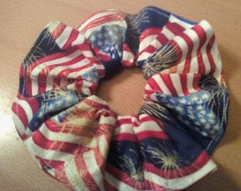 American flag scrunchie