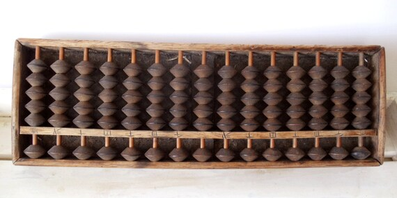 SALE - ANTIQUE Wooden Japanese ABACUS or Soroban