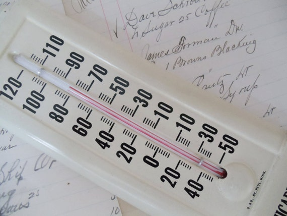 Vintage Advertising Thermometer - Amicable Life Insurance Co - Waco TX - Indoor/Outdoor