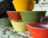 Bright Vintage Fire King Bowls