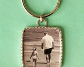 Personalized custom photo key chain , put a personal photo on a key chain for a holiday gift , Christmas present