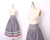 s a l e 1950s Peasant Skirt / 50s High Waist Skirt