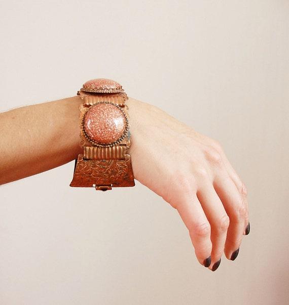 s a l e 1960s Bracelet / 60s Copper Chunky Cuff