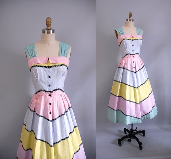 1950s Dress / 50s Gelato Summer Dress