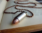 Bullet Necklace Shell Casing Pendant Jewelry Repurposed Gypsy Boho.