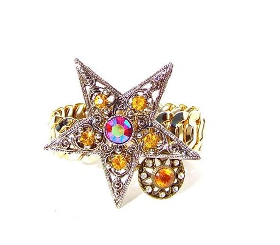 Bracelet, Vintage Topaz Crystal Bracelet by dabchickvintagegems on Etsy
