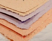 Hand Made Paper Scrapbooking Collection 7--2 by 2--Reddish Orange, Mauve, Yellowish Orange Papers