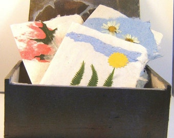 Handmade Paper Cards a in Hand Painted Dramatic Box Stationery Set of Six Exclusive Note Cards--PM-BOS1