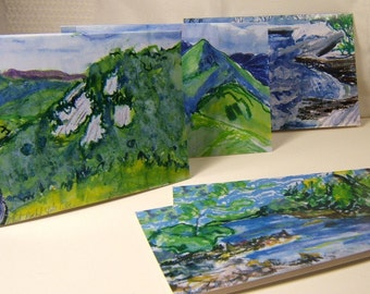 Eight Bright, Bold Impressionistic Note Cards of the Blue Ridge Mountains PM-BRM#8