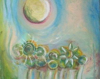 Summer Garden - mounted print of an original painting