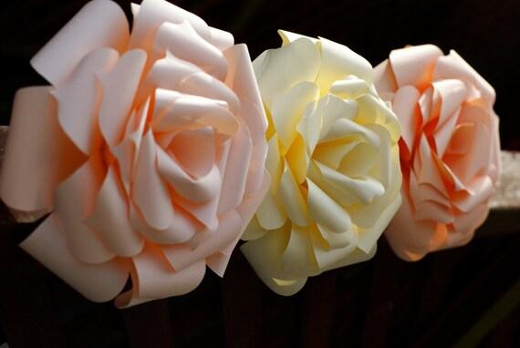 Enchanting Rose - Large Kirigami Paper Sculpted Rose