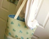 Tote Bag, Summertime, Beach Chair motif