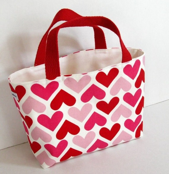 Valentine Hearts Canvas Tote Bag