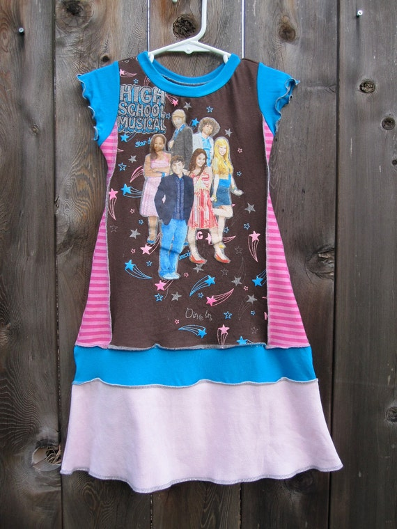 High School Musical Upcycled Girl's Dress SIze 3/ 4 Long