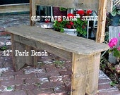 """PARK BENCH-STANDARD - FRee SHiPPING! ~ Country Primitive ~ ''Ol' Style Couple's Love Seat"""" ~ Price is Un-Beatable! - 42'' Seat - C Details"""