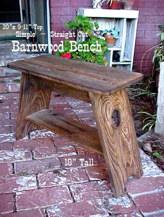"""MiLKiNG STooL, ON SALE! ~ Small BENCH,Country Primitive,Outdoor Furniture, Simple 18""""Tall - 20""""x 11"""" Seat,Patio,Porch,Garden,Mud Room Bench"""