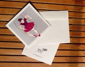 Ballerina on Strings greeting card