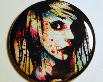 Pocket Mirror Nervous Breakdown Punk Rock Rainbow Pop Art Portrait Accessory 2.25 inch