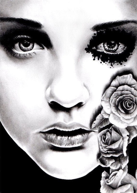 Rose of the Devils Garden 18x24 inch poster sized art print