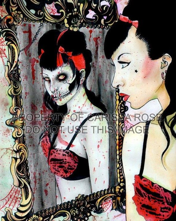 Die, Die, My Darling by Carissa Rose Art Print 5x7, 8x10, or 11x14