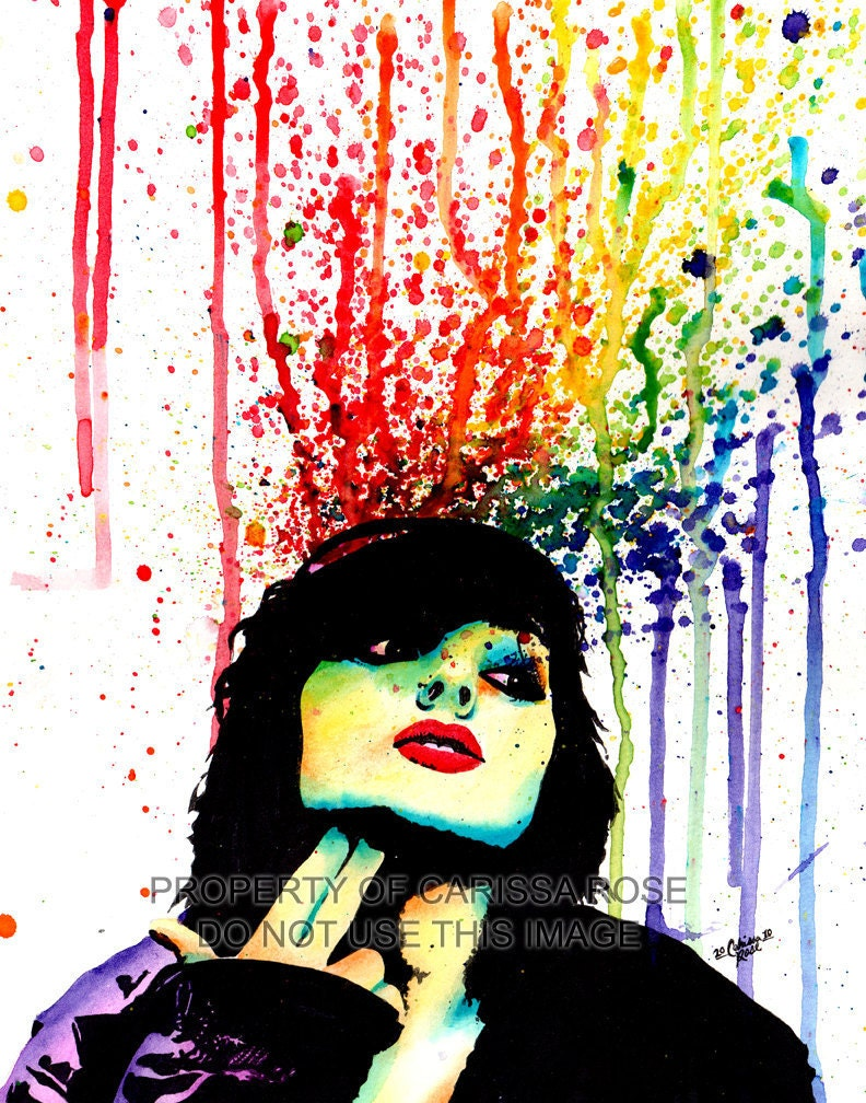 Edgy Punk Rock Rainbow Pop Art Portrait Wall Art by ...