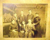 ANTIQUE STUDIO PHOTO--Taken Sometime Before 1897--Family Photo--Great Studio Background