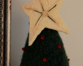 Felted Table Top Christmas Tree - Repurposed Sweaters