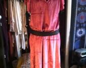 Plush Magenta Velvet Flowing Maxi Dress L-XXL