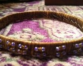 Beaded and Rattan Ethnic Bangle Bracelet