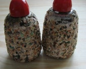 Vintage Sand Covered Salt and Pepper Shakers