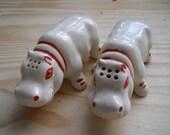 Vintage Happy Hippopotami Salt and Pepper Shakers