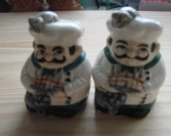 Vintage Chef Salt and Pepper Shakers