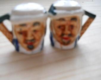 Vintage Mini Toby Mug Salt and Pepper Shakers