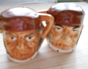 Vintage Toby Mug Salt and Pepper Shakers