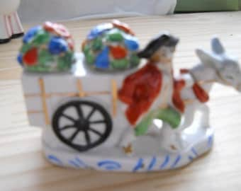 Vintage China Horseman and Cart Salt and Pepper Shakers