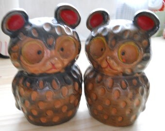 Vintage Bear Salt and Pepper Shakers