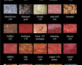 Vain Cosmetics Pigment Mineral  Eyeshadow  Try Me Size  Sampler  1-3 uses   Choose 4