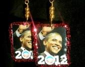 Obama for America GLITTER fundraiser earrings