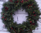 A Walk in the Maine Woods - Fresh Handmade Wreath for Winter Decorating