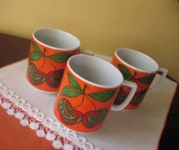 Vintage Mod Cherries Mug