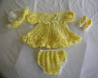 Girls Crocheted Outfit 12 month