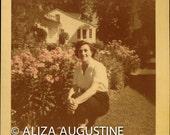 Digital Image // Vintage // Color Photo // Woman in Garden                0335