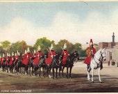 Digital Scan // Tinted Postcard // London Horse Guards Parade         0989