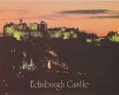 Instant download, Vintage Photo Postcard, Color Photo, Edinburgh Castle, Scotland, Travel Postcard