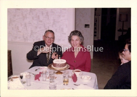 Birthday Party,  Original Photo, Vintage Photo, Kodacolor Photo, Old Photo, Found Photo, Vernacular Photo, Birthday Cake