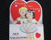 Cute Little Folding Valentine's Day Card Circa 1930s