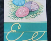 Vintage Picture Flash Card - E Easter