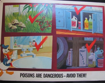 Poisons are Dangerous - Disney Study Print Poster - Circa 1967