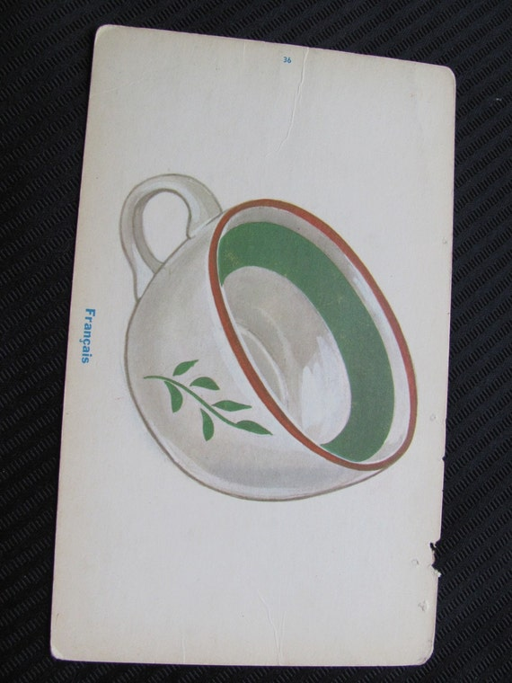 Vintage French Flash Card - Cup
